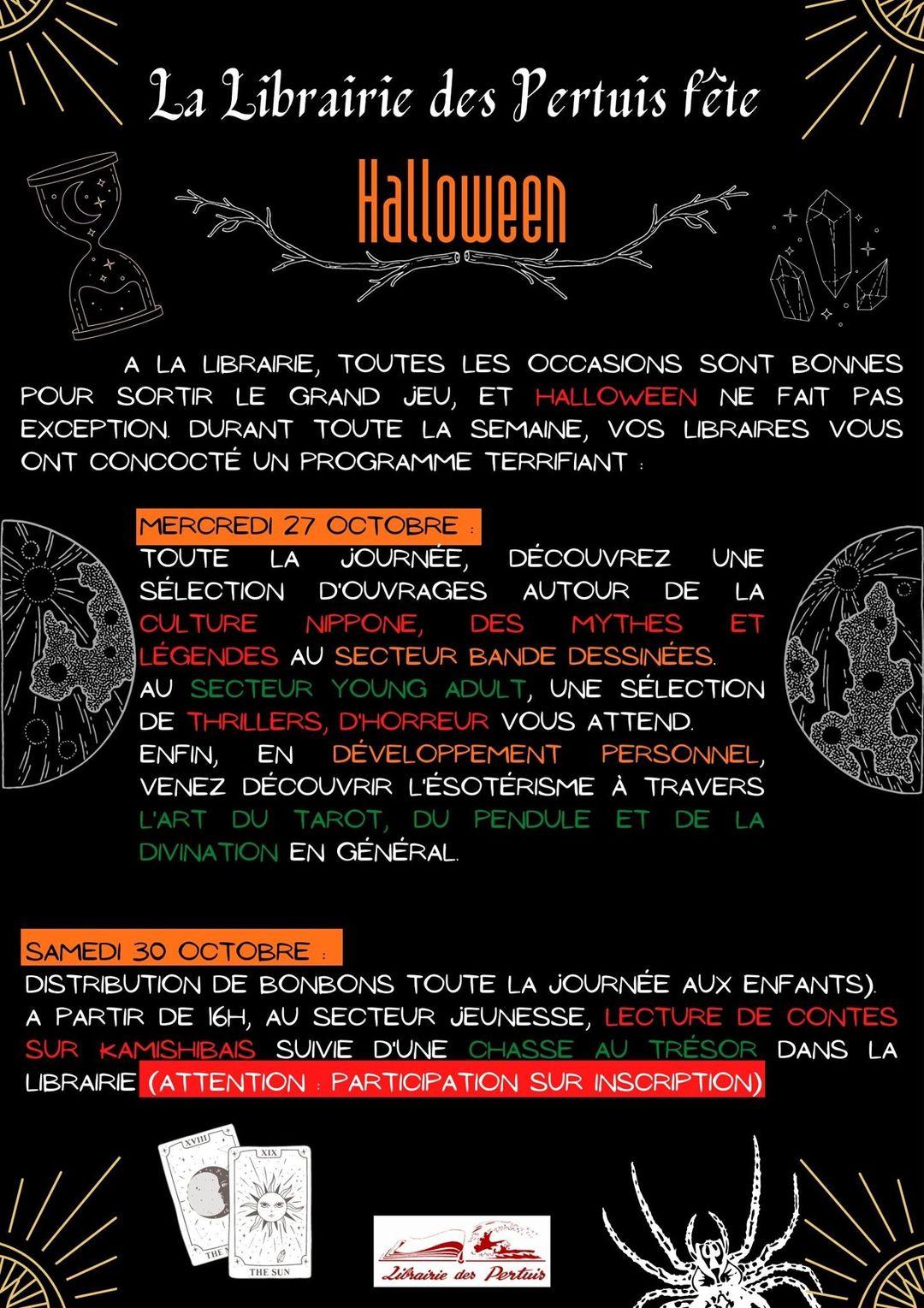 La librairie du Pertuis fête Halloween du 25 au 31 octobre 2021