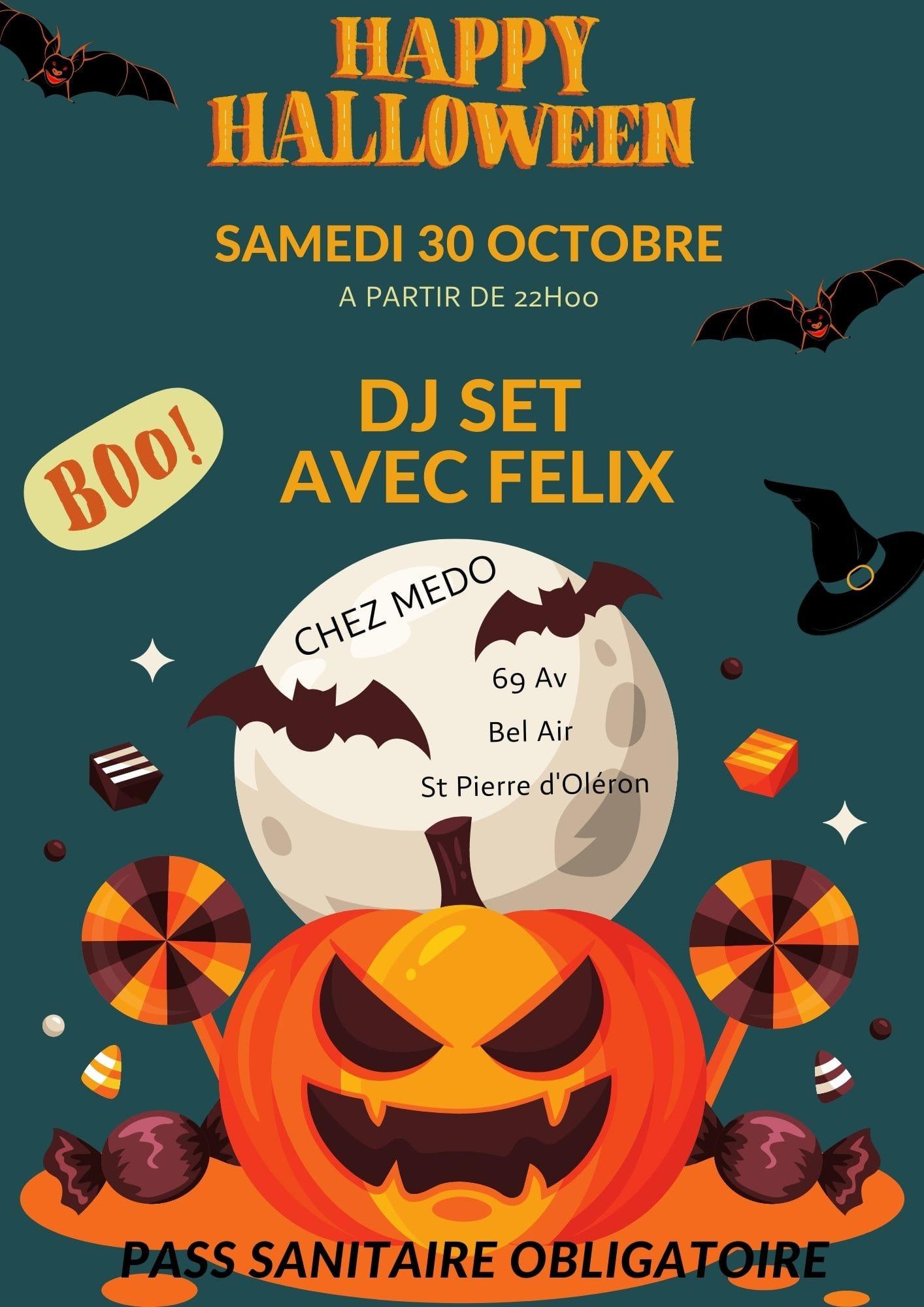 Soirée d'Halloween avec Dj Felix chez Medo le 30 octobre 2021