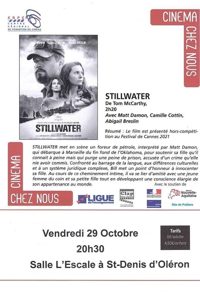 Film « Stillwater » le 29 octobre 2021 à Saint-Denis-d'Oléron