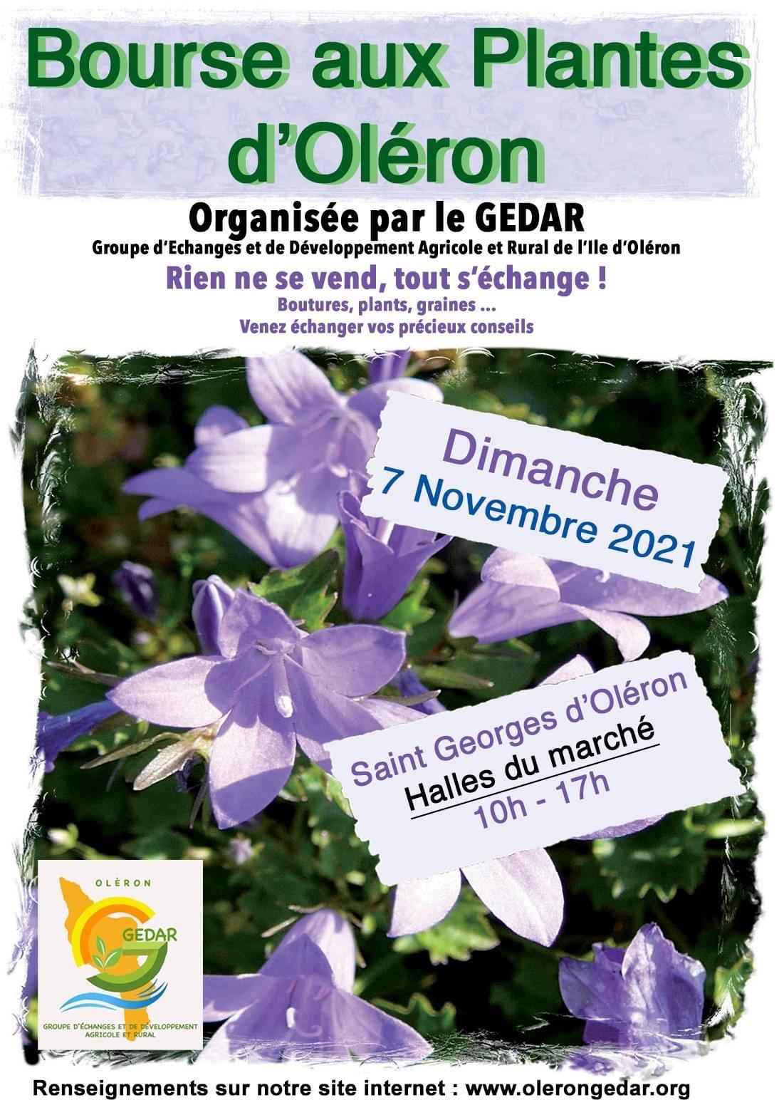 Bourse aux plantes le 7 novembre 2021 à Saint-Georges-d'Oléron