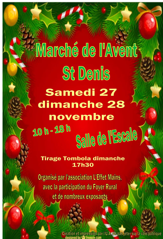 Marché de l'Avent à Saint-Denis d'Oléron les 27 & 28 novembre 2021